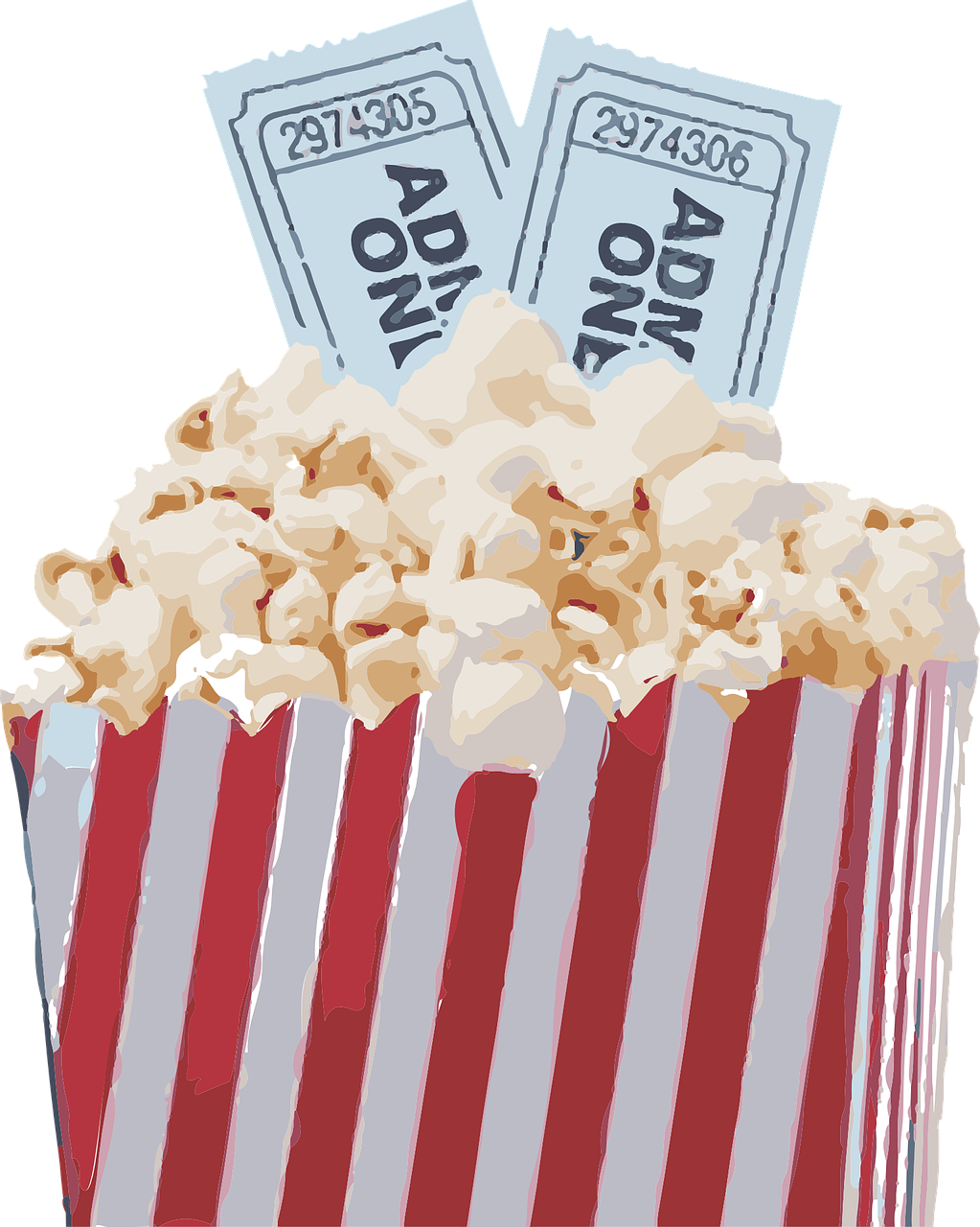 Movie Popcorn from Pixelbay